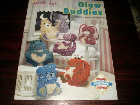 Critter Patterns Glow Buddies Needlecraft Shop 913707 Plastic Canvas Pattern Leaflet