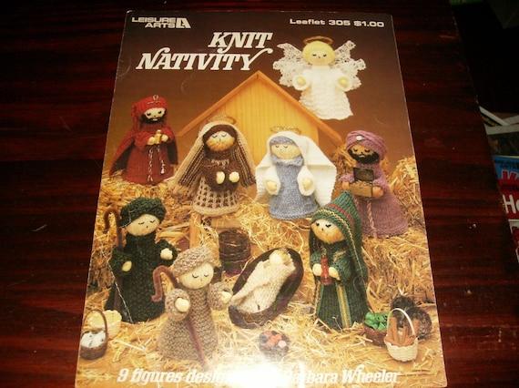 Christmas Knitting Patterns Knit Nativity Leisure Arts 305