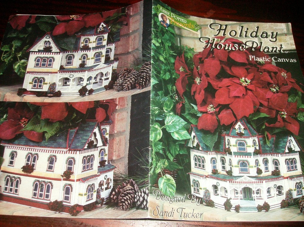 Plastic Canvas Patterns Holiday House Plant By Classystitches