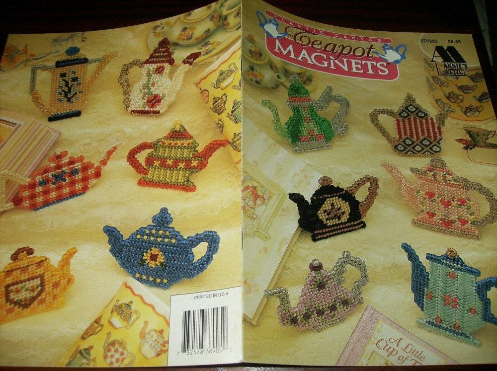 Fridgie Plastic Canvas Patterns Teapot Magnets Annie S