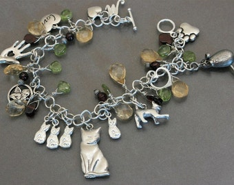 Marishka's Kittens Charm Bracelet