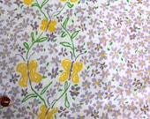 Vintage sheet fat quarter - cute butterflies and flowers