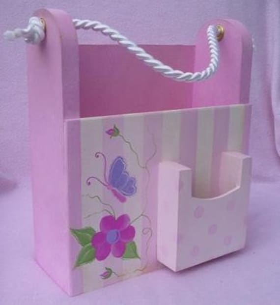 Coloring book caddy with crayon holder pink Coloring book holder
