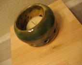 Hunter green votive tea light holder