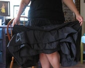 Long Triple Inner RuffleTiered Skirt, Can can Style