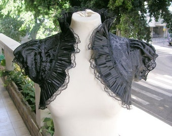 THE CHIC black bolero jacket wedding shrug bolero shrug wedding bolero jacket S size
