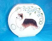 Shetland Sheepdog  Sheltie Dog Fishbowl Original Handpainted Vase