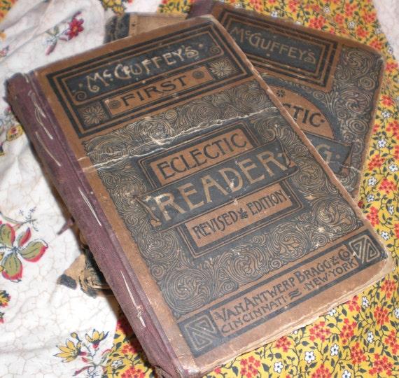 Antique book ,McGuffey's reader,printed 1879.