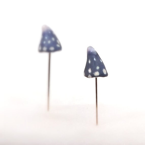 Miniature Mushrooms, Fairy Gnome Pins, Terrarium Decor, Toadstool Decor,  Fairy Garden Decor, Spotted Mushrooms, Made To Order