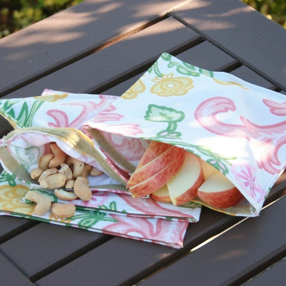Plum Creek Bags Snack Bags- Passion Flower- 4 bags