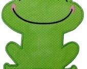 Frog Princess applique machine embroidery 289