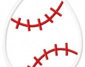 Baseball Easter Egg machine embroidery applique design