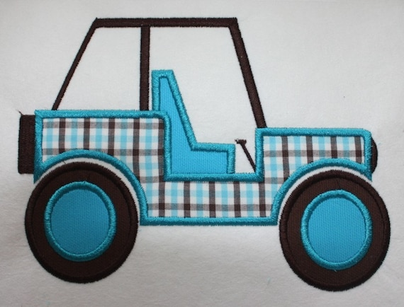 Jeep buggy machine embroidery applique design