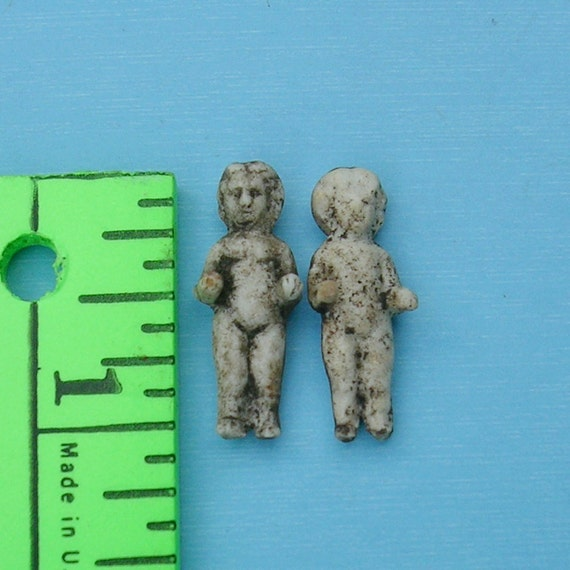 Tiny Undamaged  Antique German Dolls German Frozen Charlotte Dolls DIY Jewelry Doll Dolls
