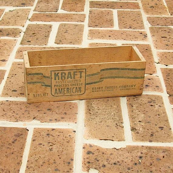 Antique Wood Wooden Kraft Cheese Box Wooden Cheese Crate Wooden Box Wooden Crate Kraft