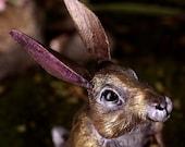 Rabbit Sculpture, Alamar the Magical Golden Woodland Bunny
