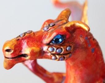 Dragon sculpture, Wapasha the Red Four Armed Dragon