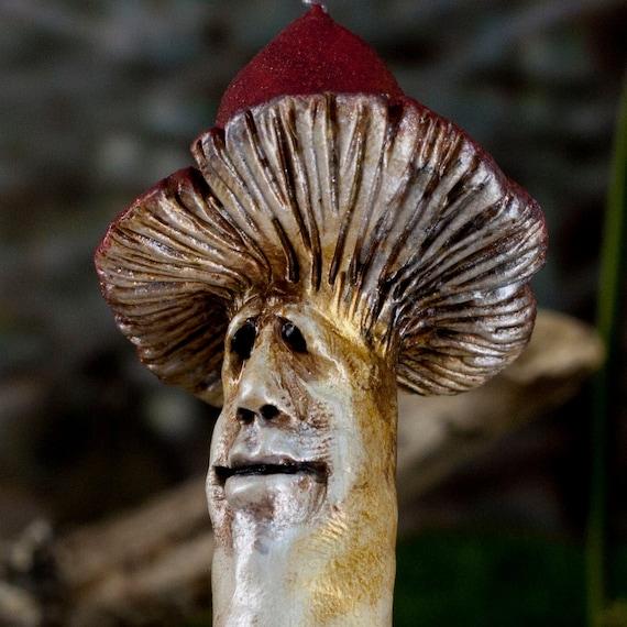 Mushroom Ornament, Skip the Mushroom Figure, Sculpture