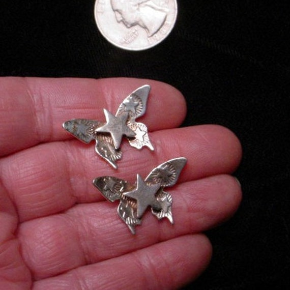 Vintage Sterling Butterfly Earrings