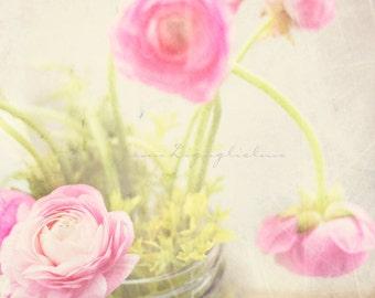 Peony flower jar - Fine art photography.  Garden photograph
