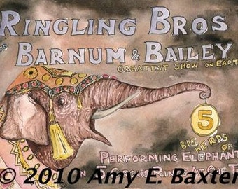 Ringling Bros-ACEO