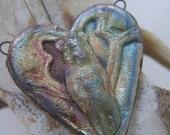 Heart of the Matter Raku Heart Pendant