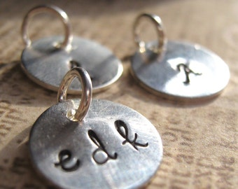 Small hand stamped charm