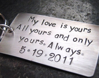 My Love Keychain - Wedding Keepsake - Groom Gift - Aniversary Keychain