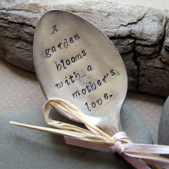 Garden Stampings vintage spoon A Mother's Love