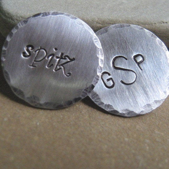 Personalized Golf Ball Markers set of 2  - Groomsman Gift