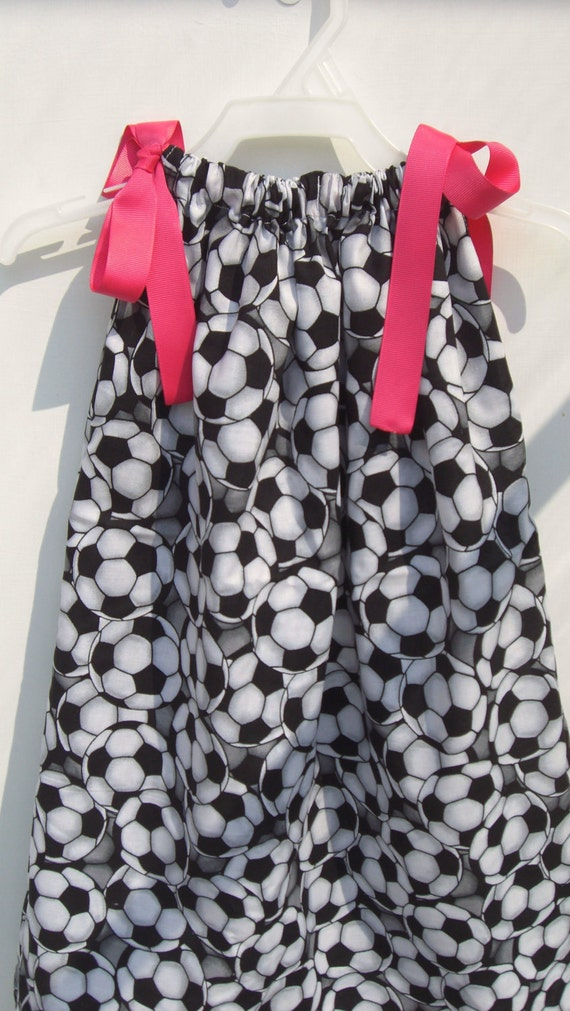 Soccer Princess Pillowcase Dress or Top custom size 6 month and 3t Only Ready To Ship