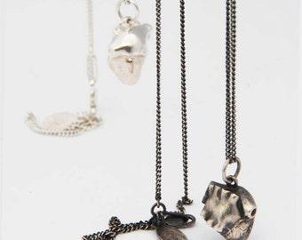 Heart necklace in Sterling Silver / Anatomy pendant / love / anniversary / wedding / valentines / engagement / unisex / girls / guys