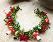 Toadstool & Fairy Charm Bracelet Cha Cha Bracelet SRAJD