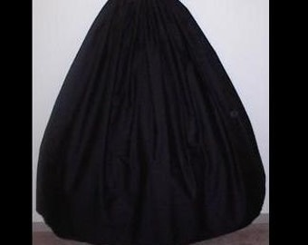 Black Skirt -Long Flowing Skirt- DRAWSTRING Waist -Elastic back to adjust to your waist size