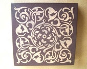 RESERVED COCOA and CANTALOPE LUSTER CANVAS CLOSING SALE Was 50.00