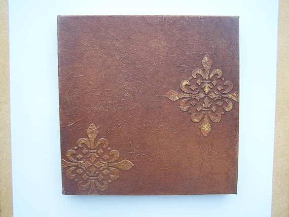 Faux Painted Leather Canvas Art CLOSING SALE Was 45.00