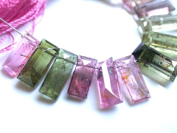 Amazing Tourmaline Faceted Baguette Beads
