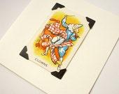 Clowns - blank greeting card