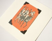 Circus troupe - blank greeting card