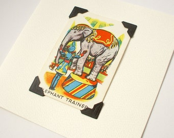 Elephant Trainer - blank greeting card