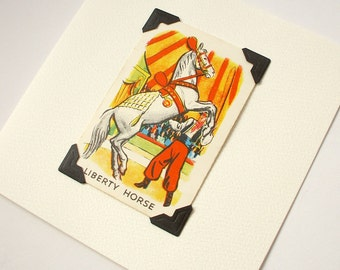 Liberty horse - blank greeting card