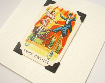 Trick cyclists - blank greeting card