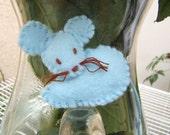 CLEARANCE  light blue felt mouse