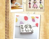 Personalized Pendant with your children drawing-  Made to order