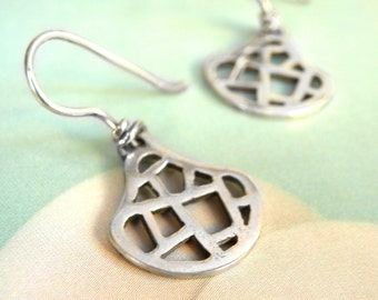 Openwork Earrings-sterling silver
