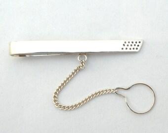Strainer Tie bar- sterling silver