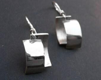 Double Earrings-sterling silver
