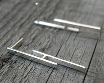 Geometric Earrings-sterling silver