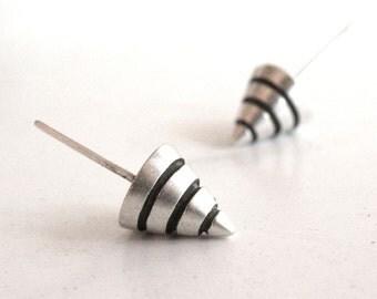 Cone Earrings-sterling silver