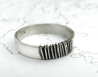 Washboard Ring-sterling silver